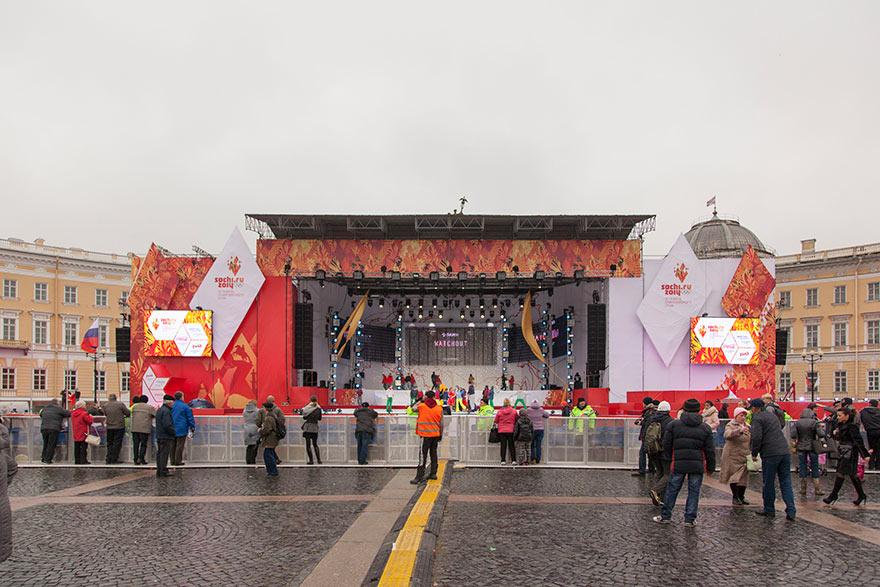 Эстафета олимпийского огня ХХII Зимних Игр в Сочи