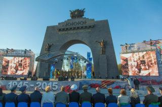 Открытие Триумфальной арки Победы
