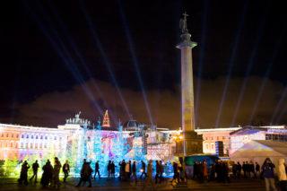 Новогодние гуляния на Дворцовой площади