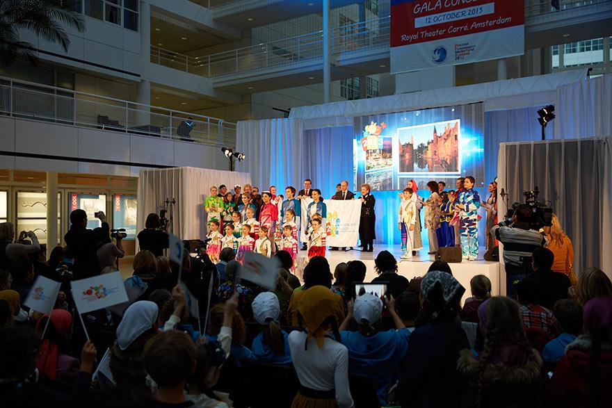 Открытие Международного детского форума «Этот мир-наш!» в Гааге