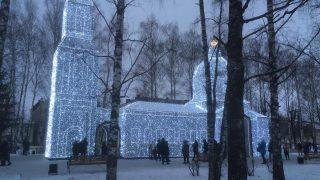 Рождество в Шуе: конструкция «Храм» на главной площади